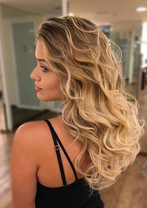 hnedý To Caramel Blonde Curly Ombre Hair