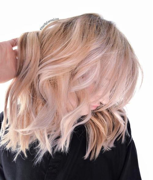 jahoda Blonde Bob With White Highlights
