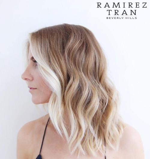 Med Brown Hair With Blonde Balayage