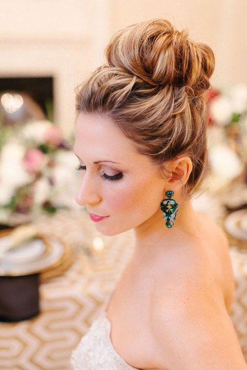 плажа wedding bun hairstyle