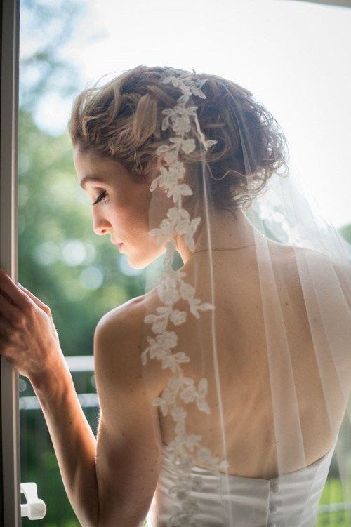 плажа wedding updo with a veil