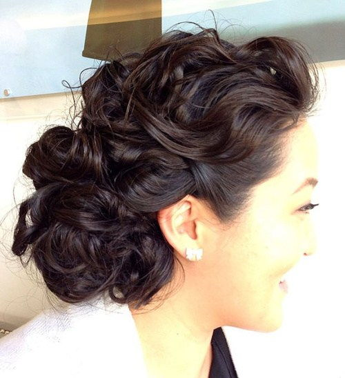 voľný curly formal updo