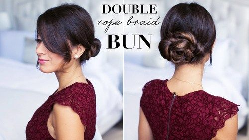 pôvabný braided bun updo for special occasions