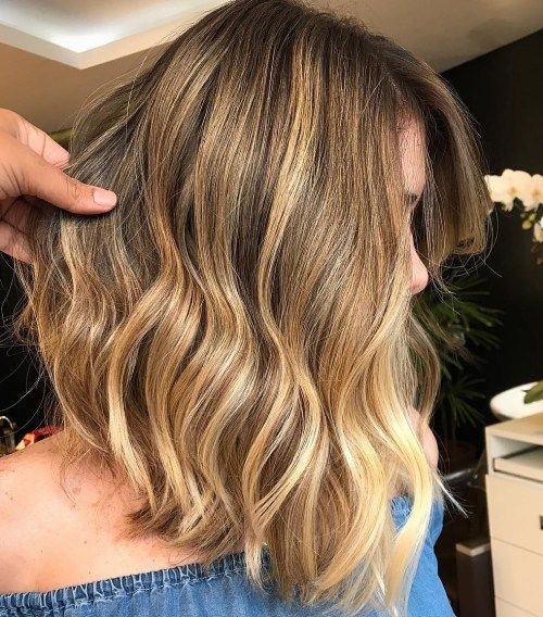 gyllene Brown Medium Balayage