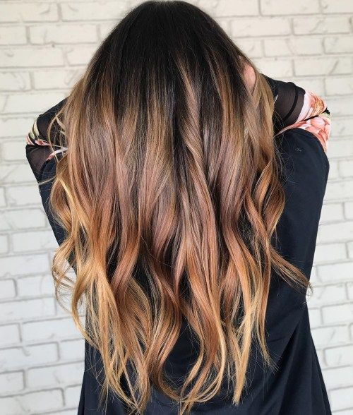 gyllene Brown Ombre Hair