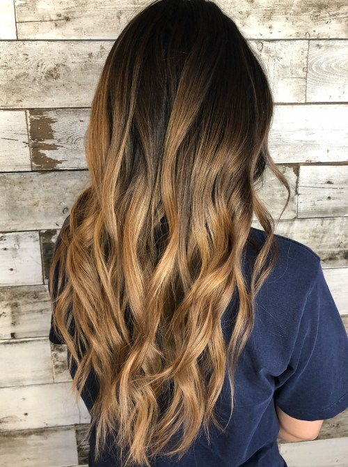 Honung Gold Brunette V-Cut