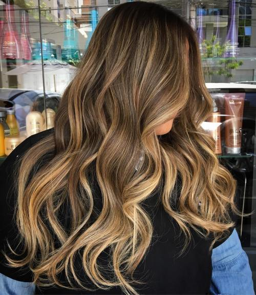 Blond Balayage Brunette Hairstyle