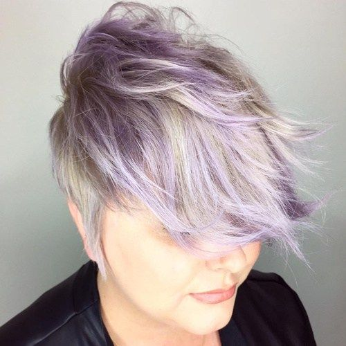 dlho Blonde And Purple Pixie