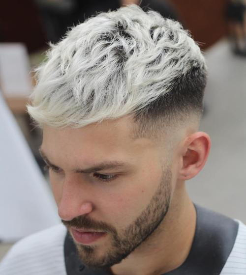 frasin blonde long top hipster men's hairstyle