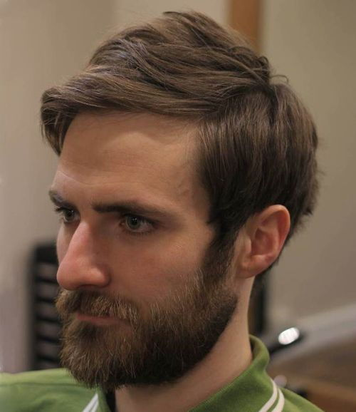 mediu hipster hairstyle with beard