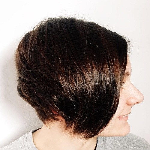 Kort Layered Brunette Hairstyle