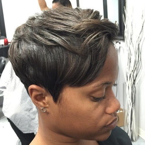 Aska Brown Pixie For Black Women