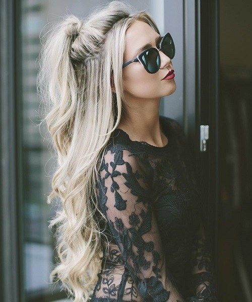 Polovica Ponytail For Long Blonde Hair