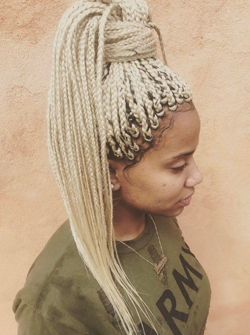 platina Blonde Box Braids