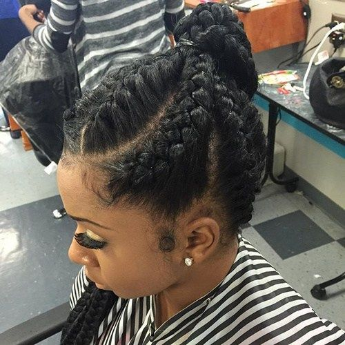 pletené ponytail for black hair