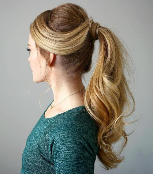 balený Ponytail For Long Hair