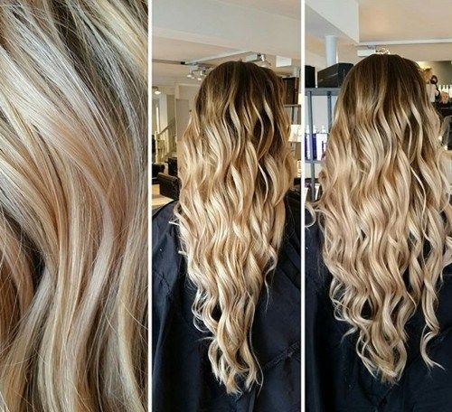 dolga blonde V cut