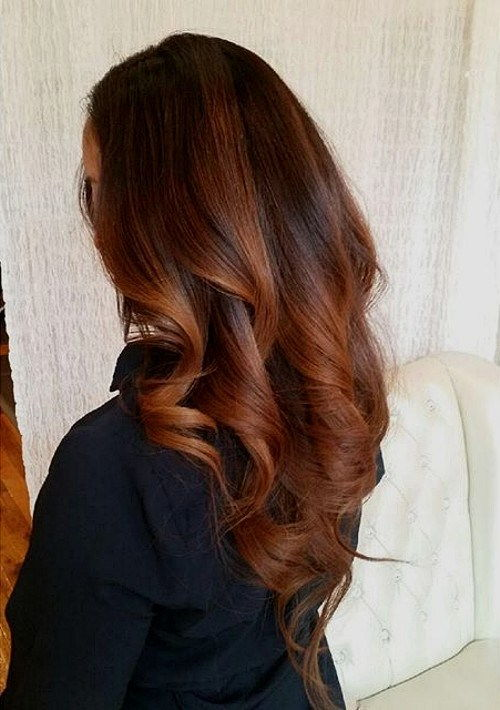 baker ombre highlights and V cut