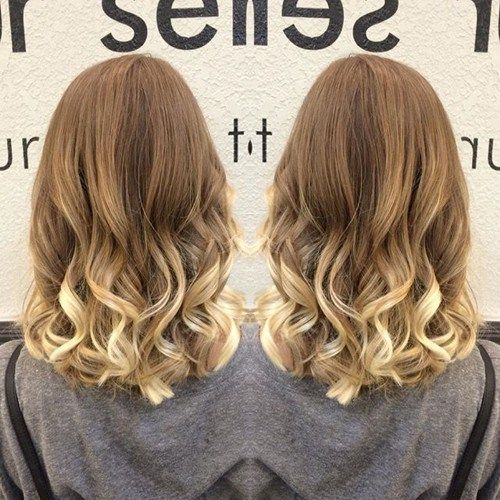 blondinka ombre hair and medium U cut