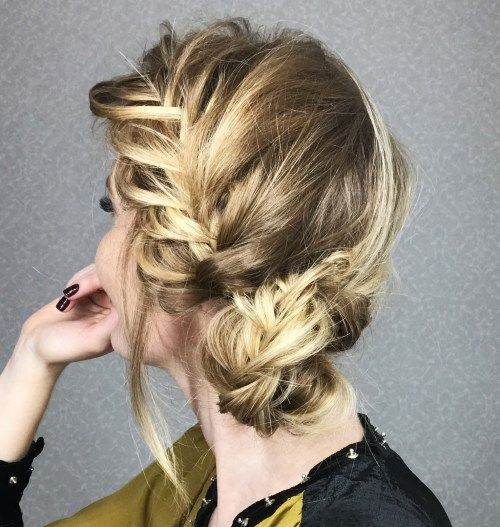 Împletit Updo With A Low Bun