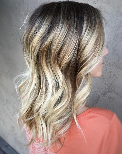 Дарк Brown Hair With Silver Blonde Highlights
