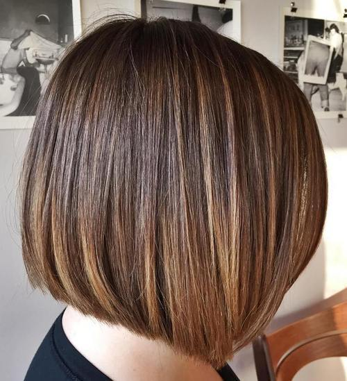 tupý cut bob with ombre highlights