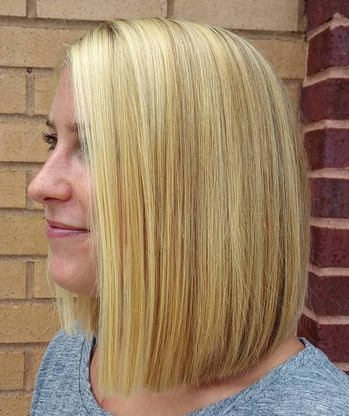 dlho blonde blunt bob with highlights and lowlights