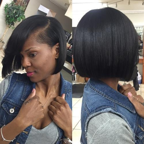 16.Blunt bob for African American women