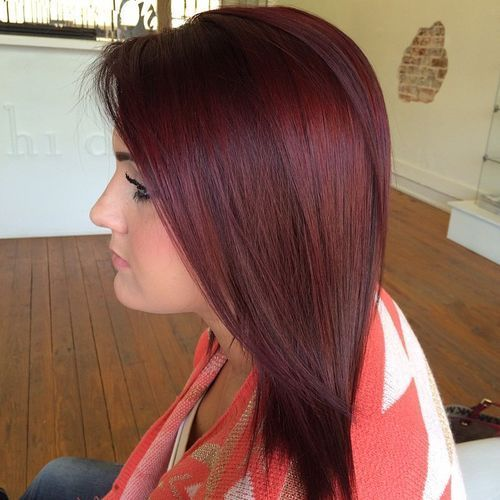 burgunda hair color