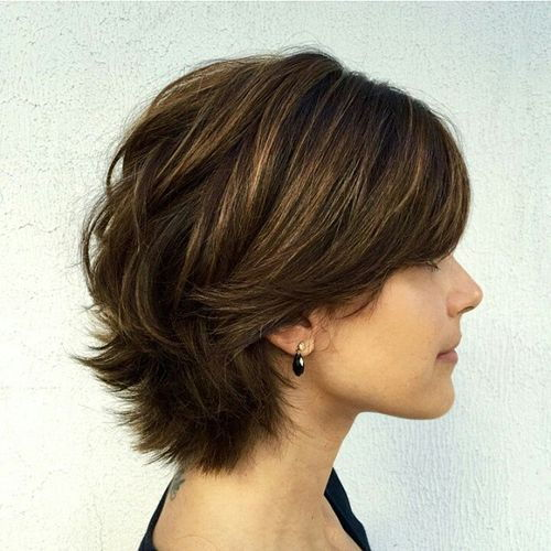 кратак layered haircut for thick hair