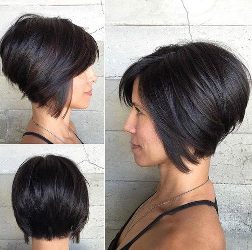 Кратак Inverted Bob Haircut For Thick Hair