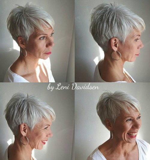 Obrobljeno Silver Pixie For Women Over 60