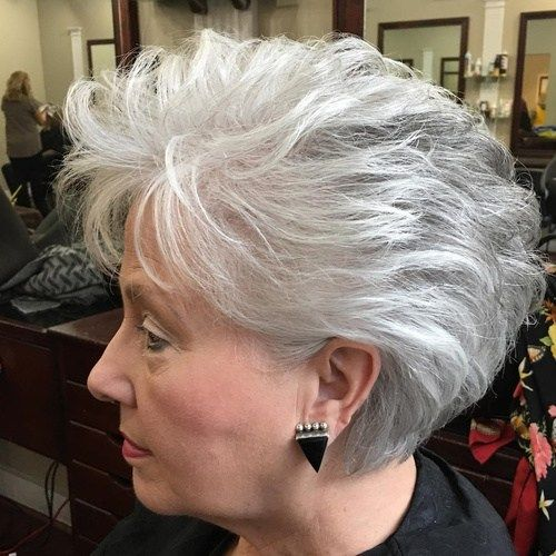 Kratek Gray Hairstyle For Older Women