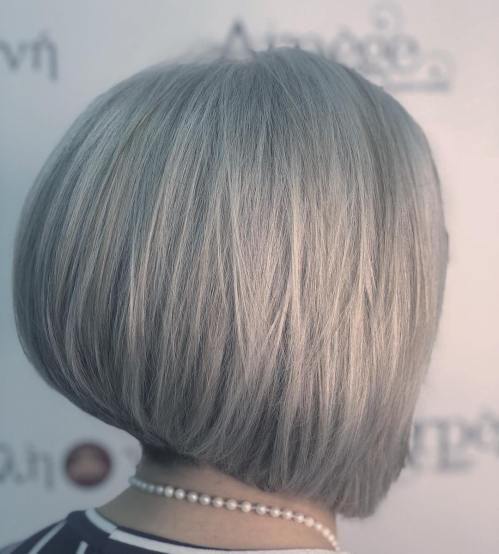 siva Layered Inverted Bob Hairstyle
