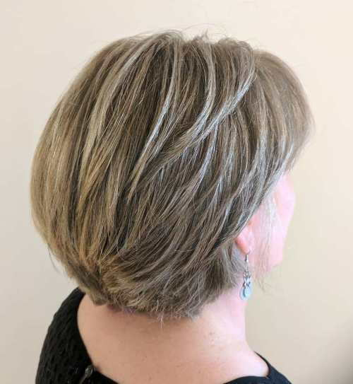 Kratek Layered Dark Blonde Cut For Thick Hair