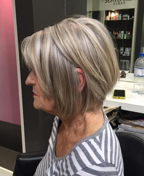 Pepel Blonde Layered Bob For Women Over 60