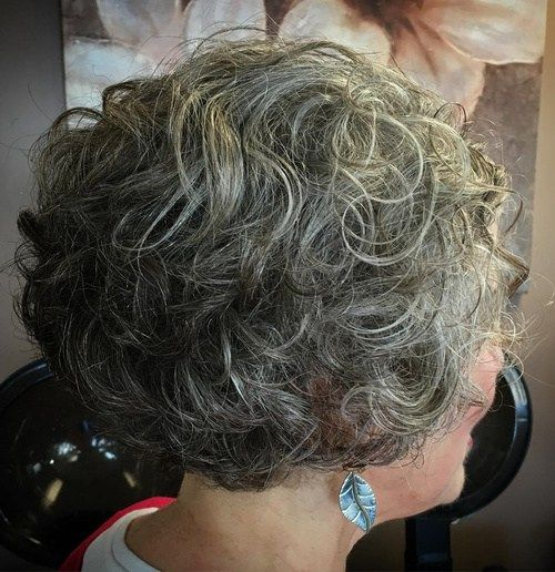 Kratek Curly Salt And Pepper Hairstyle