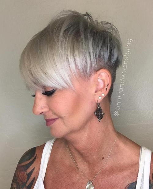 siva Pixie Undercut For Mature Women