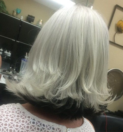 Bela Blonde Long Bob With Black Underlayer