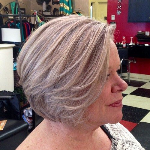 Pepel Blonde Bob For Women Over 50