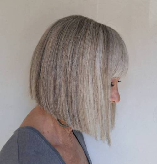 Več Blunt Angled Bob With Bangs