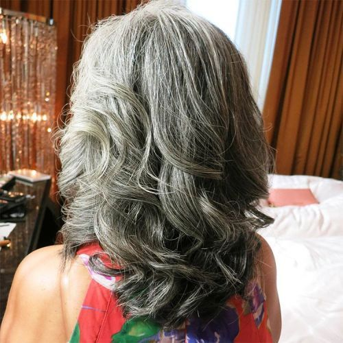 dolga Curly Gray Hairstyle For Thick Hair
