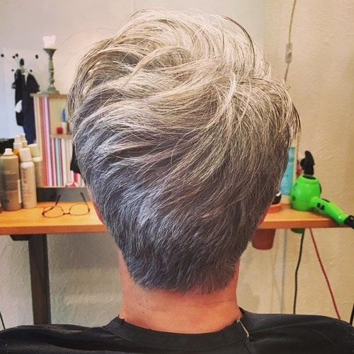 Kratek Tapered Gray Hairstyle