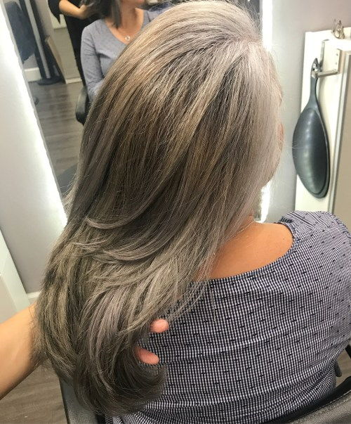Pepel Bronde Long Layered Hair