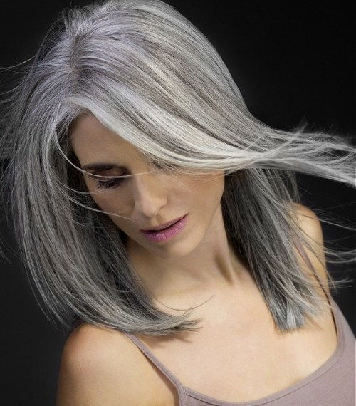 lepo hairstyle for gray hair