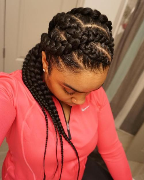 Lung Curvy Goddess Braids