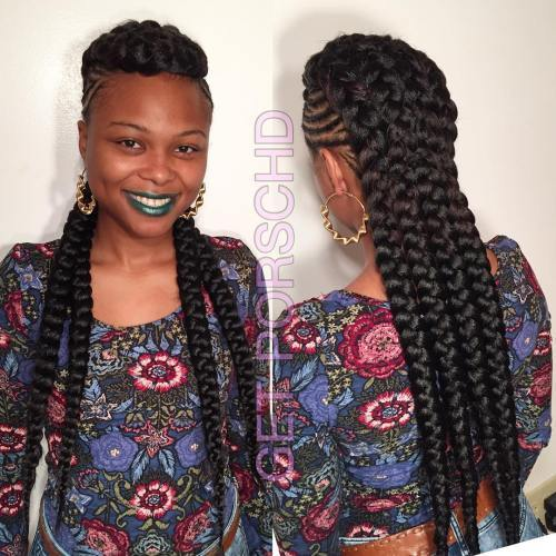 Împletit Mohawk With Chunky Braids
