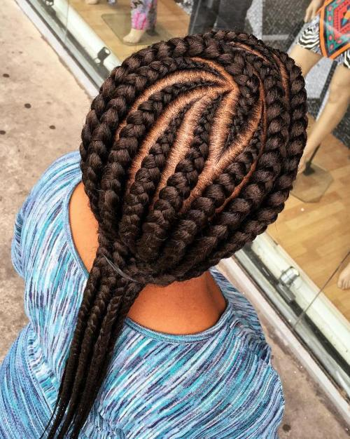 Curbat Cornrows With Extensions
