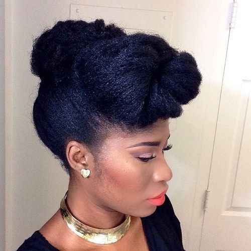 updo hairstyle with a bun