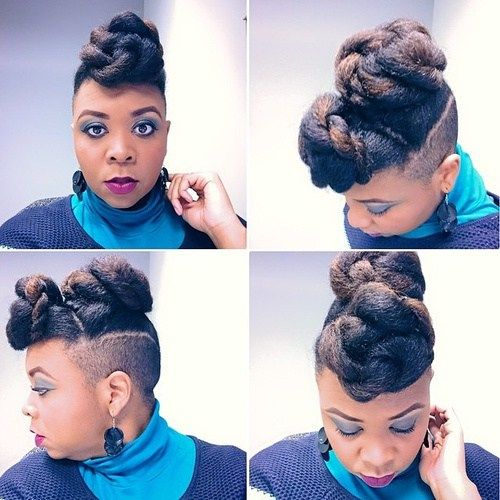 împletit hairstyle with undercuts